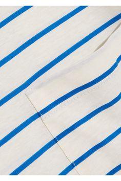 Prada - Striped Cotton-jersey T-shirt - Blue - medium
