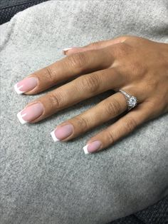 Bridal Nails French, French Manicure Acrylic Nails, French Tip Nails, Nail Manicure, Toe Nails, Short French Nails, Classy Nails, Stylish Nails, Natural Gel Nails