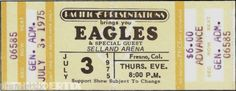 Five THE EAGLES unused paper replica concert tickets Collect, Scrapbook,made in the USA Eagles Tickets, Concert Tickets, Jennifer Rodriguez, Andrew Lawrence, Music Charts, Vintage Scrapbook, Rock Concert, Led Zeppelin, Special Guest