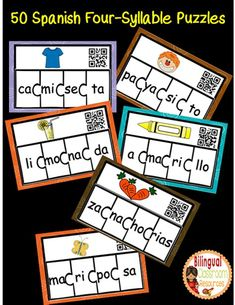 Silabas   Dual Language Classroom, Bilingual Kindergarten