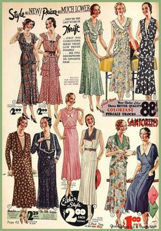 whisters:   1932 Fashions    Chiffon Voile, Cotton Pongee, Percale, Linen & Cotton Crepe.