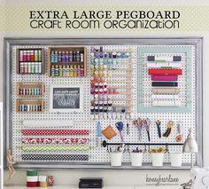 Craft+Room+Organizational+Pegboard