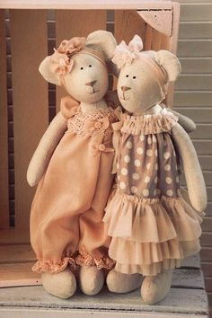 Интерьерные куклы Кузнецовой Евгении: Тильда Мишки. Выкройка