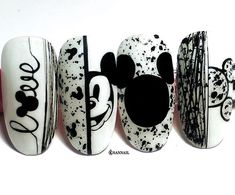 Visit our web site. Cute Nail Art Designs, Disney Nail Designs, Nail Art Designs Videos, Nail Art Videos, Cartoon Nail Designs, Disney Acrylic Nails, Best Acrylic Nails, Disneyland Nails, Mickey Nails
