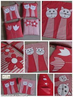 Sedáky povlaky na polštářky a další šité doplňky Fabric Crafts, Sewing Crafts, Sewing Projects, Pillow Mat, Patchwork Pillow, Sewing Dolls, Fabric Bags, Softies, Baby Quilts