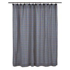 """Jenson Cotton Plaid Shower Curtain 72""""x72"""""""