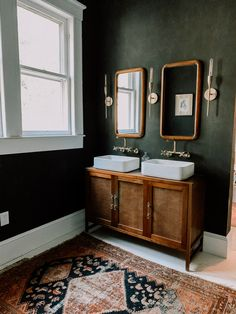 Master Bath Redux Bad Inspiration, Bathroom Inspiration, Green Accent Walls, Dark Green Walls, Green Accents, Home Accents, Baños Shabby Chic, Beautiful Bathrooms, Dream Bathrooms