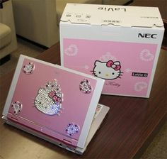 Hello Kitty laptop! Would I ever buy it? Probably not since I'm picky with my electronics but man, it is cute!