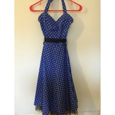Pinup Halter Dress Excellent quality pin up dress. Sizes all, looks amazing on. Like new quality. Dresses Midi