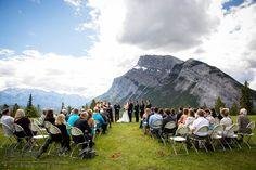 Banff outdoor wedding ceremony, tunnel mountain reservoir banff, banff wedding photographer, www.kimpayantphotography.com Summer Wedding Venues, Wedding Reception, Dream Wedding, Alaska Summer, Emerald Lake, Wedding Inspiration, Wedding Ideas, Park Weddings, Banff