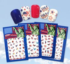 LET FREEDOM RING.  With Joby Nailart it's easy to apply tasteful designs to nails.  Our stickers are open to limitless options for whatever style you are trying to achieve. In addition, here are other great features...  - Over 200 Nail Art Designs -Easy to Mix-n-Match - Easily applied -Saves time -Individually Packaged for easy storage Let Freedom Ring, Nail Art Stickers, Easy Storage, Up Hairstyles, It's Easy, Nail Art Designs, Nailart, How To Apply, Hairdos