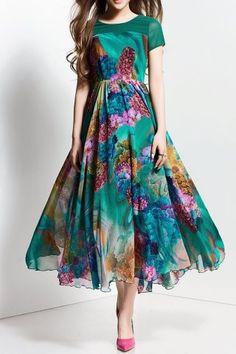 Floal Print Maxi Dress