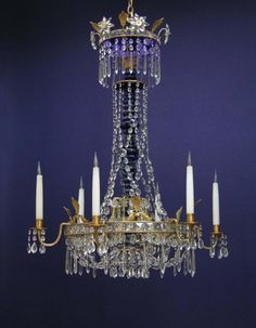 G p cohn antique chandeliers repairs restoration gorgeous late 18th century swedish style six light gilt and glass chandelier aloadofball Image collections