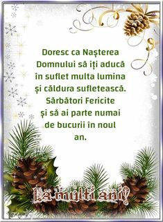 Felicitari de Craciun - La mulți ani! Holidays And Events, Happy New Year, Diy And Crafts, Christmas Cards, Religion, Table Decorations, Bella, Spirituality, Advice