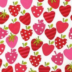 3/4 Yard Cotton Quilting Fabric, Metro Market, Strawberries, by Robert Kaufman…