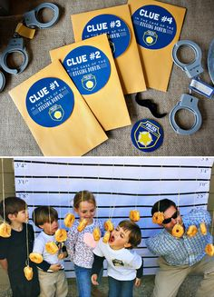 Blue & Yellow Policeman Birthday Party {Crime Fighters!} // Hostess with the…