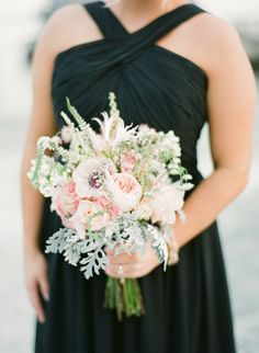 Lovely bridesmaid bouquet: http://www.stylemepretty.com/2014/05/28/romantic-glamour-in-miami/ | Photography: KT Merry - http://www.ktmerry.com/