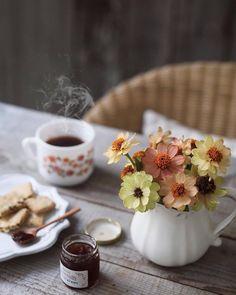 Ideas For Breakfast Table Ideas Food Cups Coffee Break, Coffee Time, Tea Time, Apple Tea, Brunch, Coffee Drinkers, My Tea, C'est Bon, Original Recipe