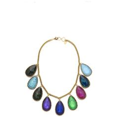 Erickson Beamon Hyperdrive Teardrop Necklace ($605) ❤ liked on Polyvore featuring jewelry, necklaces, jewel multi, tri color jewelry, swarovski crystal jewelry, colorful jewelry, teardrop necklace and colorful necklace