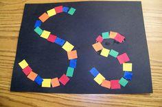Letter S (squares)