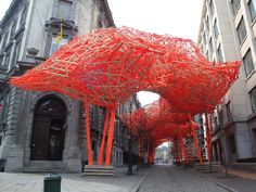 The Sequence (2008), by Arne Quinze. The Belgian conceptual artist built this wood and concrete orange construction behind the Flemish Parliament in Brussels. I will spare you details on the retarded reception this work of art got from loads of people.