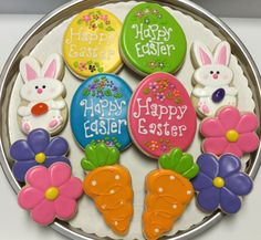Easter Decorated Sugar Cookies by I AM the Cookie Lady