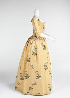 Robe à l'Anglaise Date: 1776 Culture: British Medium: silk Accession Number: 2009.300.952