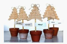 Le Arti di Minerva: Albero di Natale all'uncinetto   Crochet Christmas tree