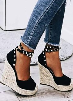 Wedges Surprisingly Cute Platform WedgesYou can find Wedge heels and more on our website. Wedge Sandals, Wedge Shoes, Women's Shoes, Me Too Shoes, Shoe Boots, Espadrille Wedge, Dress Shoes, Fashion Models, Fashion Shoes
