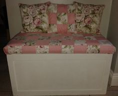 My Mum made this Ottoman in woodwork classes when she was a young woman in the 50s. I have had it many years and gave it a coat of paint, covered the top with foam and a patchwork fabric I made and a few scatter cushions to really finish it off. Delighted with it. A little imagination can go a long way