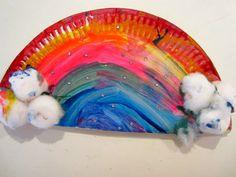 'Rainbow' - 2015. Paper plate art with Jordan (2yo)