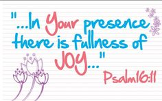 Worshipping God brings you directly into His presence. There you will find Joy and Peace for your soul!