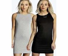 boohoo 2 Pack Racer Front Bodycon Dress - multi azz09261 Riley is 510 and wears UK size 10 http://www.comparestoreprices.co.uk/dresses/boohoo-2-pack-racer-front-bodycon-dress--multi-azz09261.asp