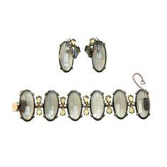 vintage earring & bracelet set