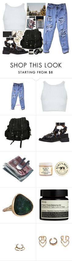 """""""build me an empire"""" by velvet-ears ❤ liked on Polyvore featuring Topshop, AllSaints, Acne Studios, Georg Jensen, Chapstick, Burt's Bees, Christian Dior, Anaconda, Aesop and Boohoo"""