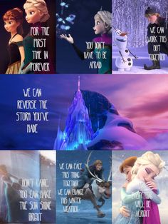 That's all Anna's part but this is all of Elsa's part... No..., I'm such a fool I can't be free...! No escape from the storm inside me!!!! I can't control the curse! No, Anna please you'll only make it worse! There's so much fear! Your not safe here! No...., I........ I can't!!!!!