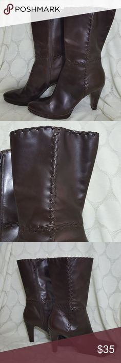 Antonio Melani Brown Leather Calf Boots Antonio Melani Brown Leather Calf Boots. Excellent used condition. Size ANTONIO MELANI Shoes Heeled Boots