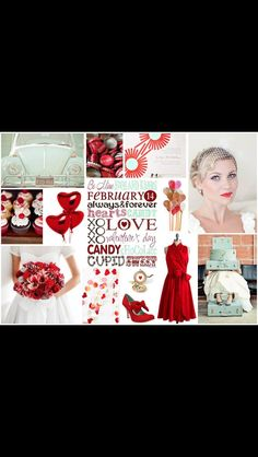 Valentine's wedding mood board