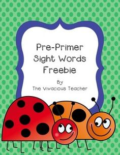 """This file contains the pre-primer Dolch sight words included in my Sight Word Bundle. I print these cards on colored card stock and laminate the cards for a reusable resource year after year. I like to print two copies of the cards to be used as a """"Go Fish"""" sight word practice game."""