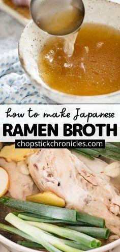 Wok Recipes, Copycat Recipes, Indian Food Recipes, Asian Recipes, Japanese Street Food, Japanese Food, Asian Broth Recipe, Homemade Ramen Broth, I Love Food