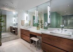 : Chic Master Bathroom Jade Contemporary Bathroom Design Interior Decorated With Wooden Modern Bathroom Vanities Furniture Ideas Bathroom Sink Design, Master Bathroom Vanity, Modern Master Bathroom, Bathroom Vanity Cabinets, Contemporary Bathrooms, Bathroom Furniture, Bathroom Interior, Small Bathroom, Bathroom Vanities