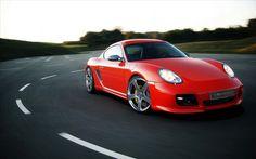 sport car porsche cayman red