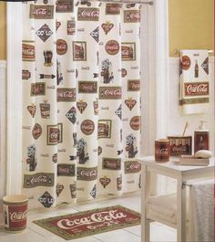 Create colorful coca cola bottle using adobe illustrator - Bathroom coca cola shower curtain ...