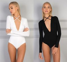 85ff4f1ff10 Sexy Women s Long Sleeve Stretch Bodysuit Lady Leotard Body Tops Tshirt  109B Bodysuit Blouse