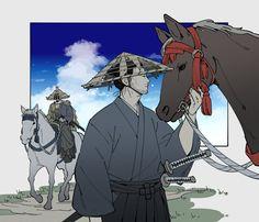 Ghost Of Tsushima, Samurai Armor, Otaku, Japan Art, Character Illustration, Digital Art, Anime, Sketches, Animation