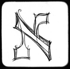 This Zenspirations Hebrew letter Aleph is the first letter of the Hebrew alphabet. from Zenspirations- Gallery - Monograms
