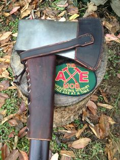 #axe w leather handle guard