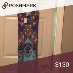 Papillon Blanc spaghetti strap maxi dress Multi colored maxi dress-never worn. Tags still attached Dresses Maxi