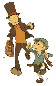 Professor Layton and Luke after something EDIT: PROFESSOR YOU DROPPED A HINT COIN! Stop and pick it up! You won't miss whatever you're chasing, it's a puzzle game for goodness' sake!