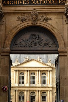 Archives Nationales @ 60 rue des Francs-Bourgeois [Hôtel de Soubise] √ http://www.archives-nationales.culture.gouv.fr/
